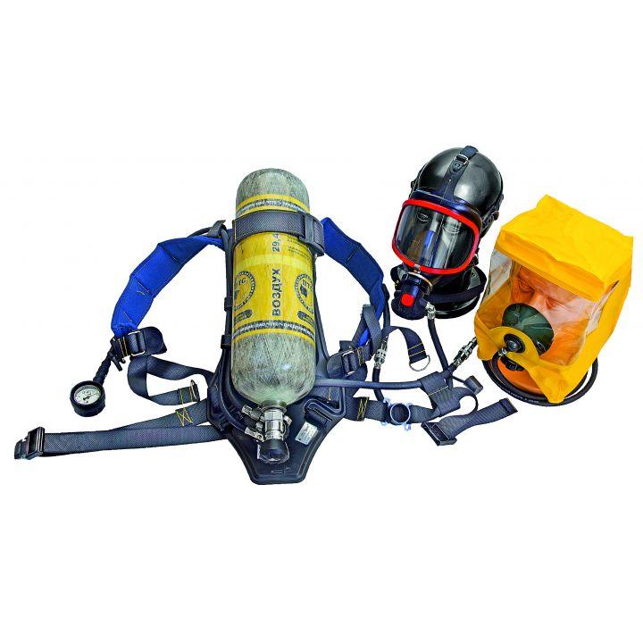 """Дыхательный аппарат со сжатым воздухом для пожарных ПТС """"Базис"""" (72 мин, вес не более 14,0 кг, 2 балл., 4,0л, металлокомпозитный)"""