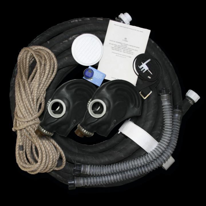Шланговый противогаз БРИЗ-0302 (ПШ-20С) шланг резинотканевый 2 маски ШПМ (Сумка)