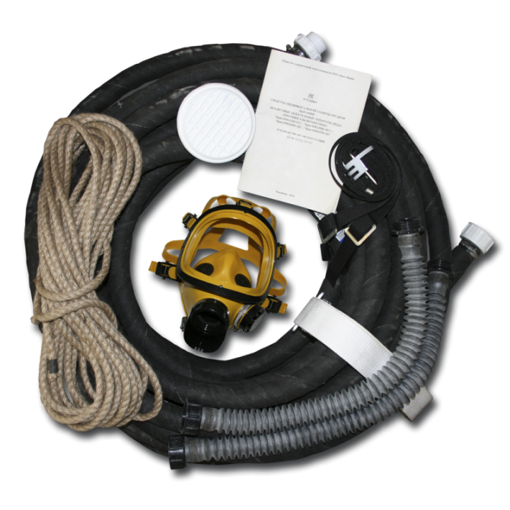 Шланговый противогаз ПШ-1С, шланг ПВХ, 1 маска ШМП
