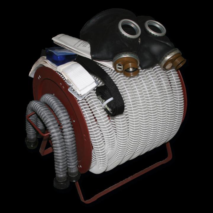 Шланговый противогаз БРИЗ-03210 (ПШ-20РВ) шланг ПВХ 2 маски ШПМ (Барабан)